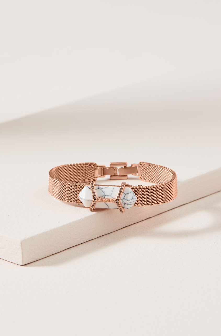 keep collective rose gold angle wing charm